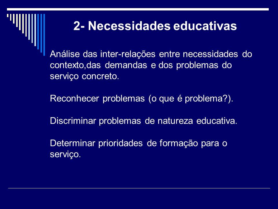 2- Necessidades educativas