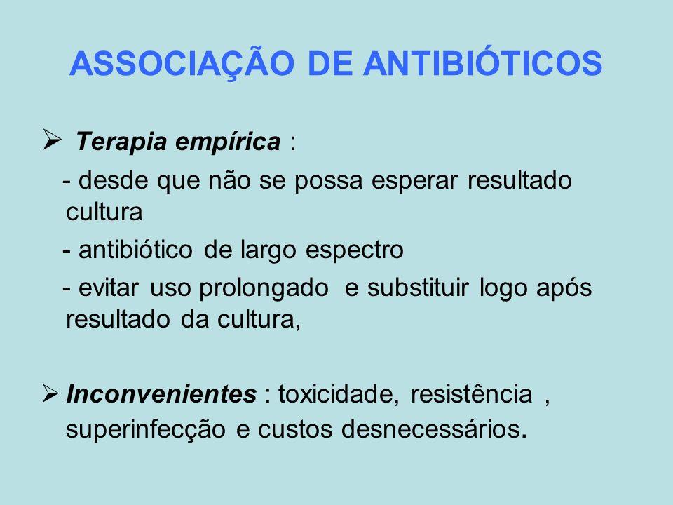 ASSOCIAÇÃO DE ANTIBIÓTICOS