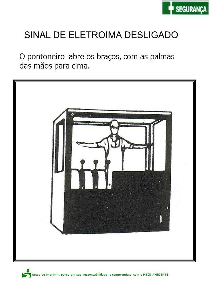Sinal de ELETROIMÃ DESLIGADO