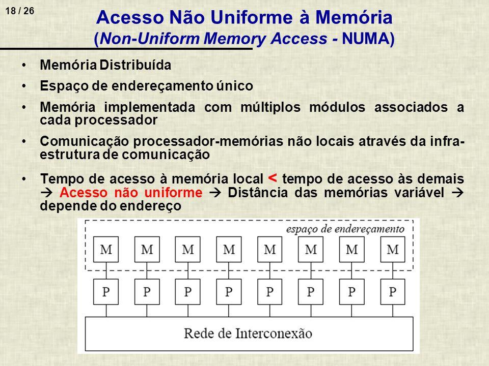 Acesso Não Uniforme à Memória (Non-Uniform Memory Access - NUMA)