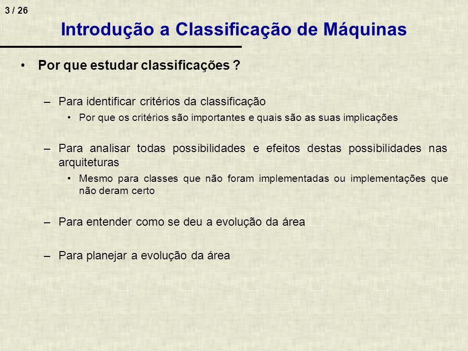 Introdução a Classificação de Máquinas
