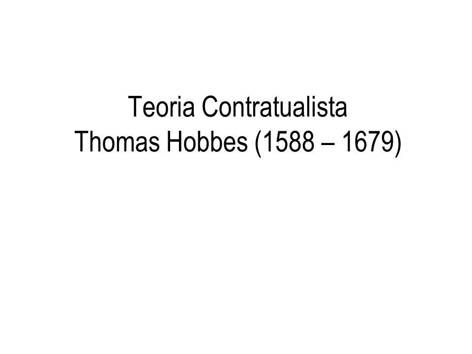 Teoria Contratualista Thomas Hobbes (1588 – 1679)