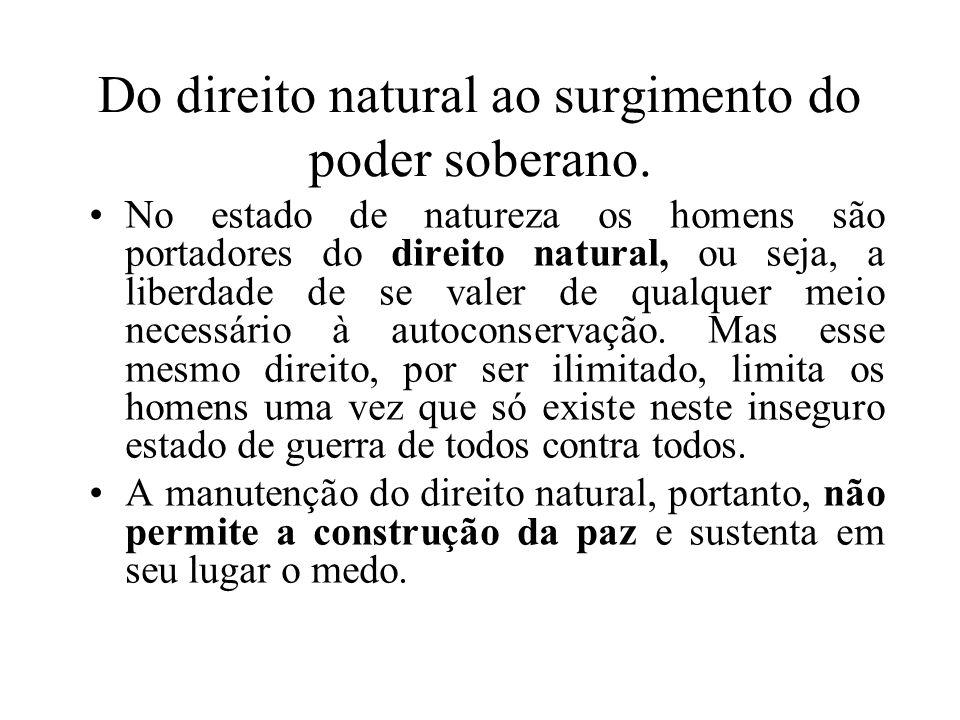 Do direito natural ao surgimento do poder soberano.
