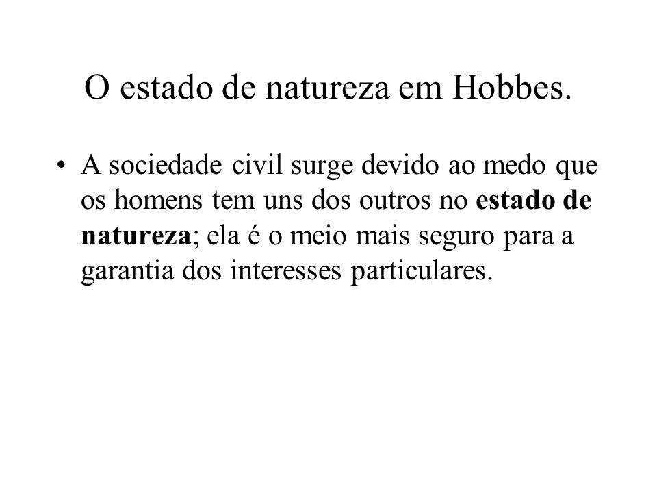 O estado de natureza em Hobbes.