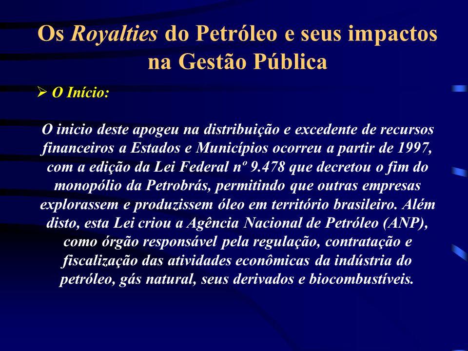 Os Royalties do Petróleo e seus impactos na Gestão Pública