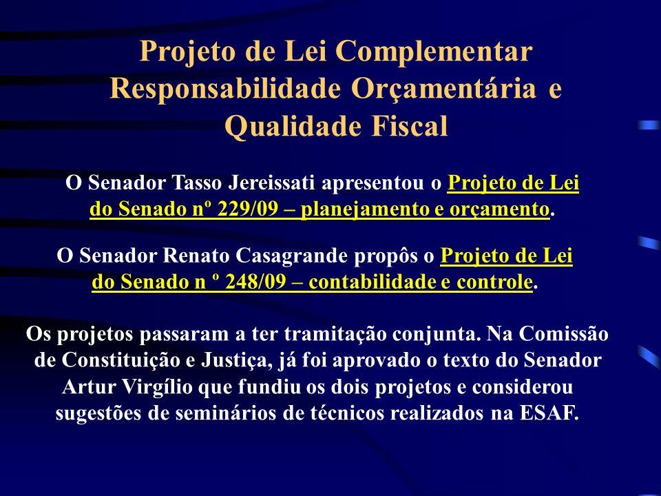 Projeto de Lei Complementar Responsabilidade Orçamentária e Qualidade Fiscal