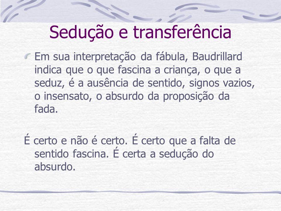 Sedução e transferência