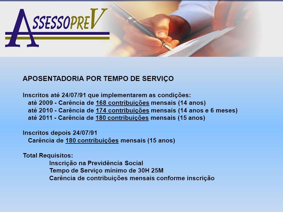 APOSENTADORIA POR TEMPO DE SERVIÇO
