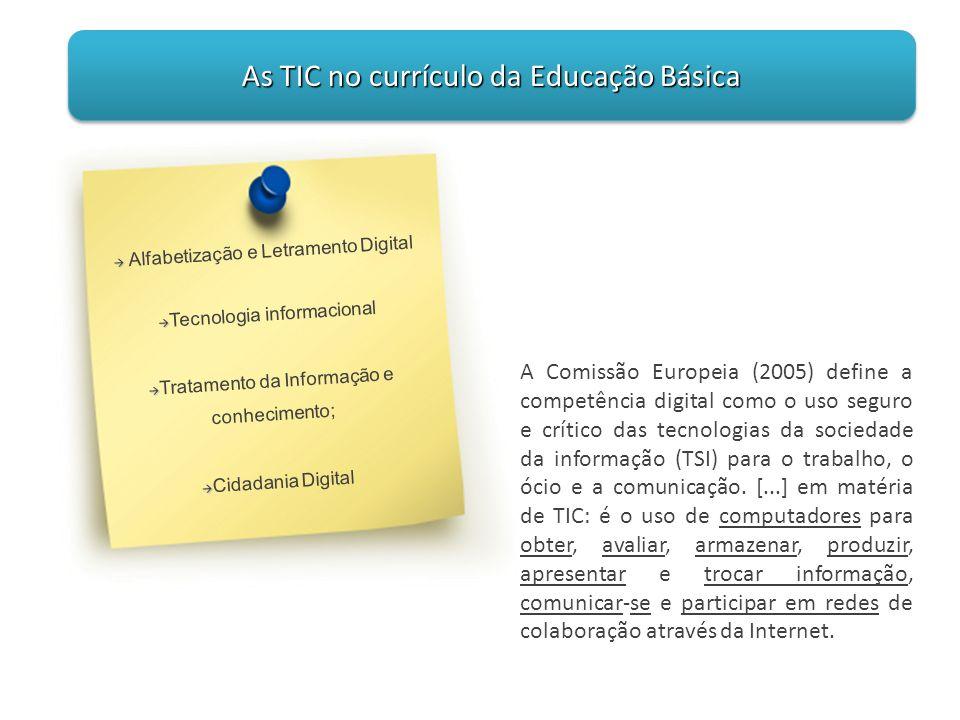 As TIC no currículo da Educação Básica