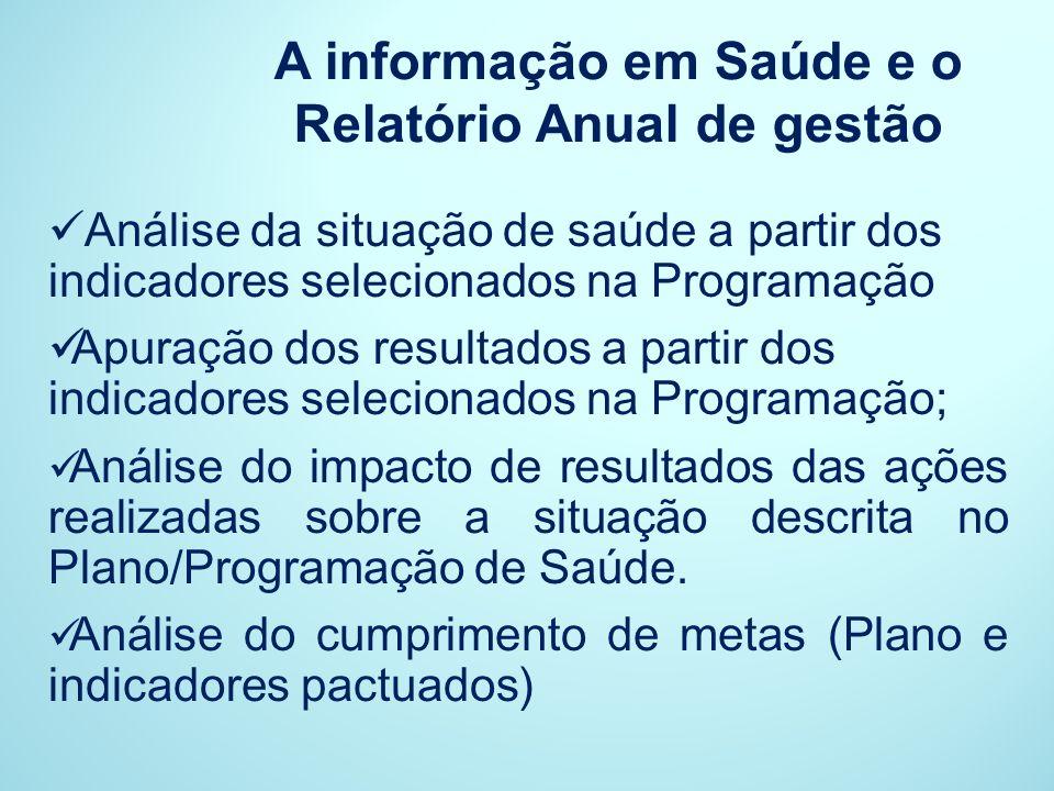 A informação em Saúde e o Relatório Anual de gestão