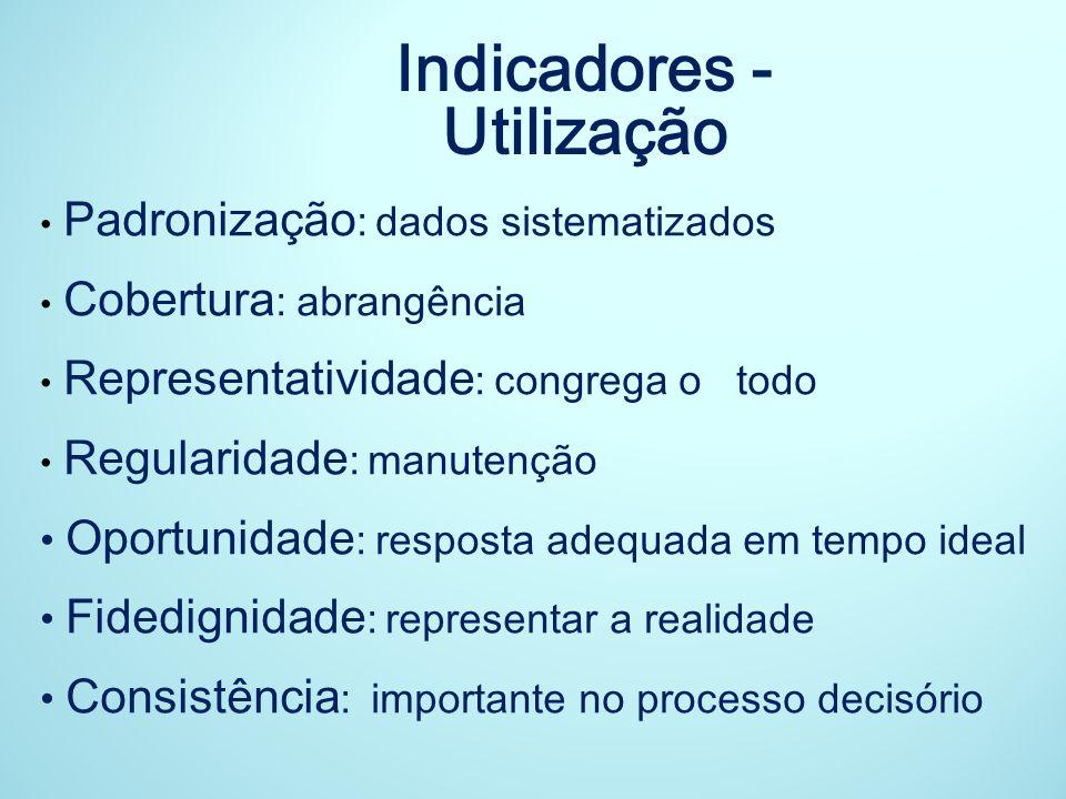 Indicadores - Utilização