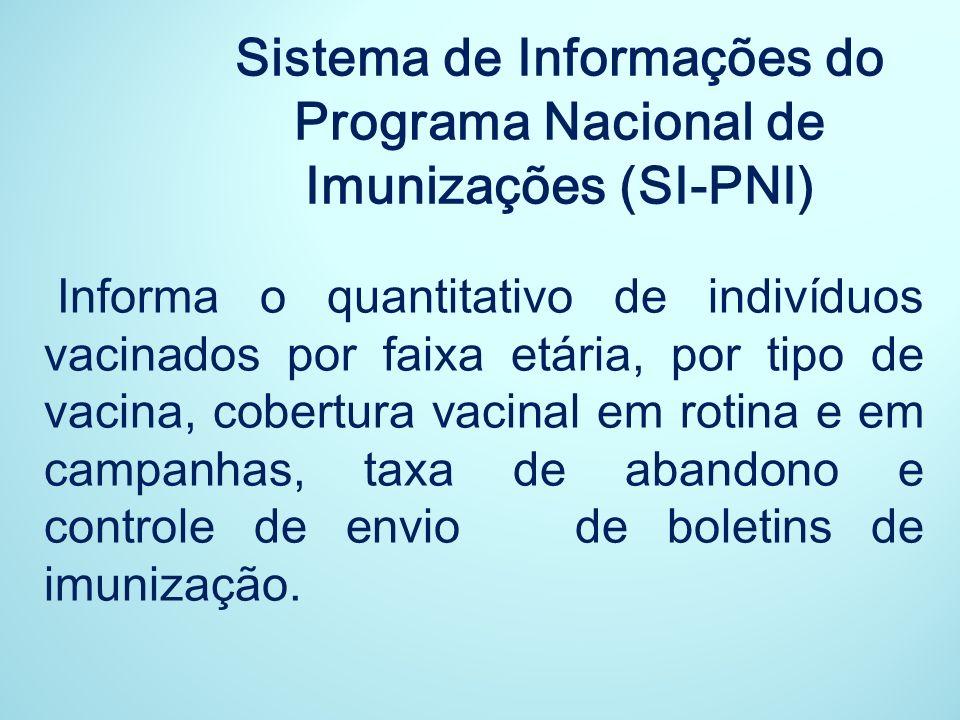 Sistema de Informações do Programa Nacional de Imunizações (SI-PNI)