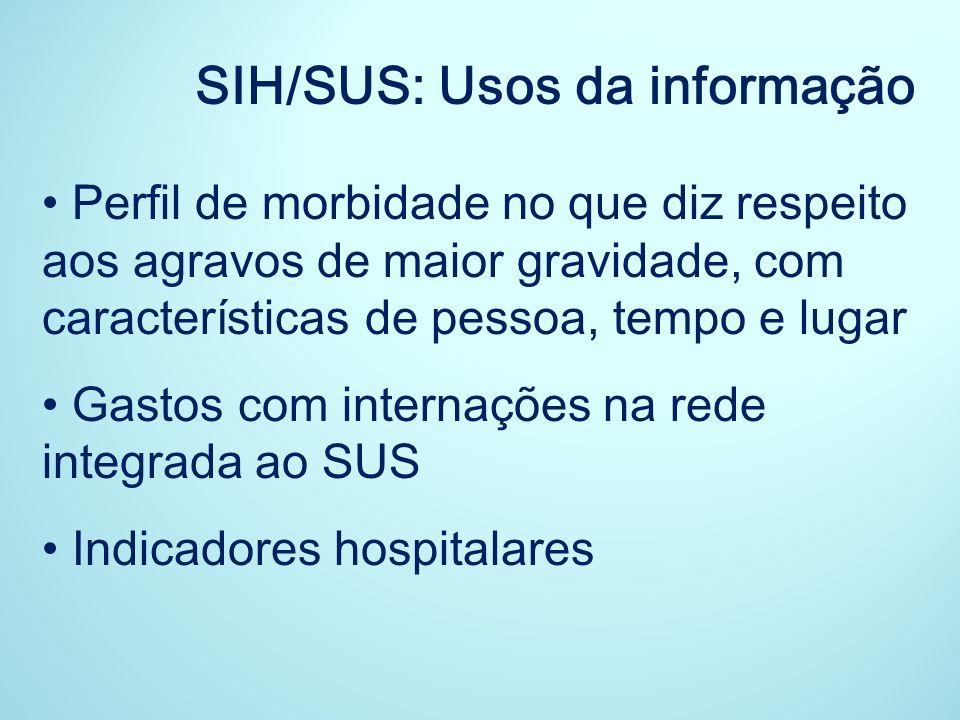 SIH/SUS: Usos da informação