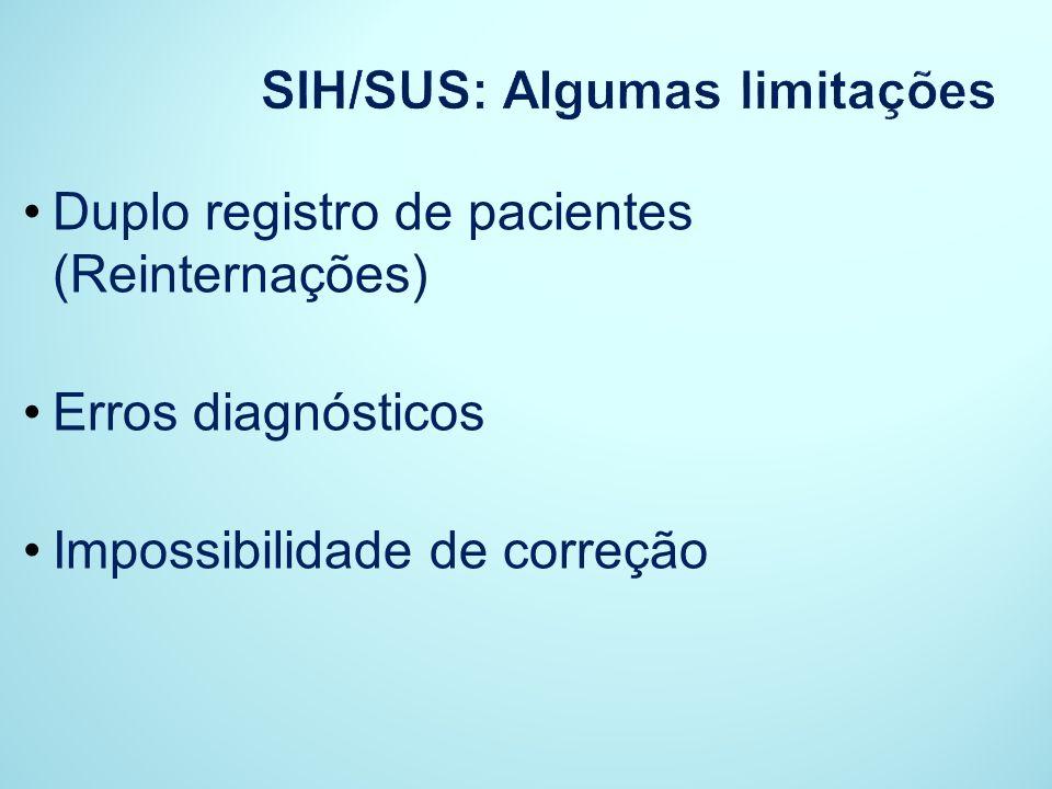 SIH/SUS: Algumas limitações