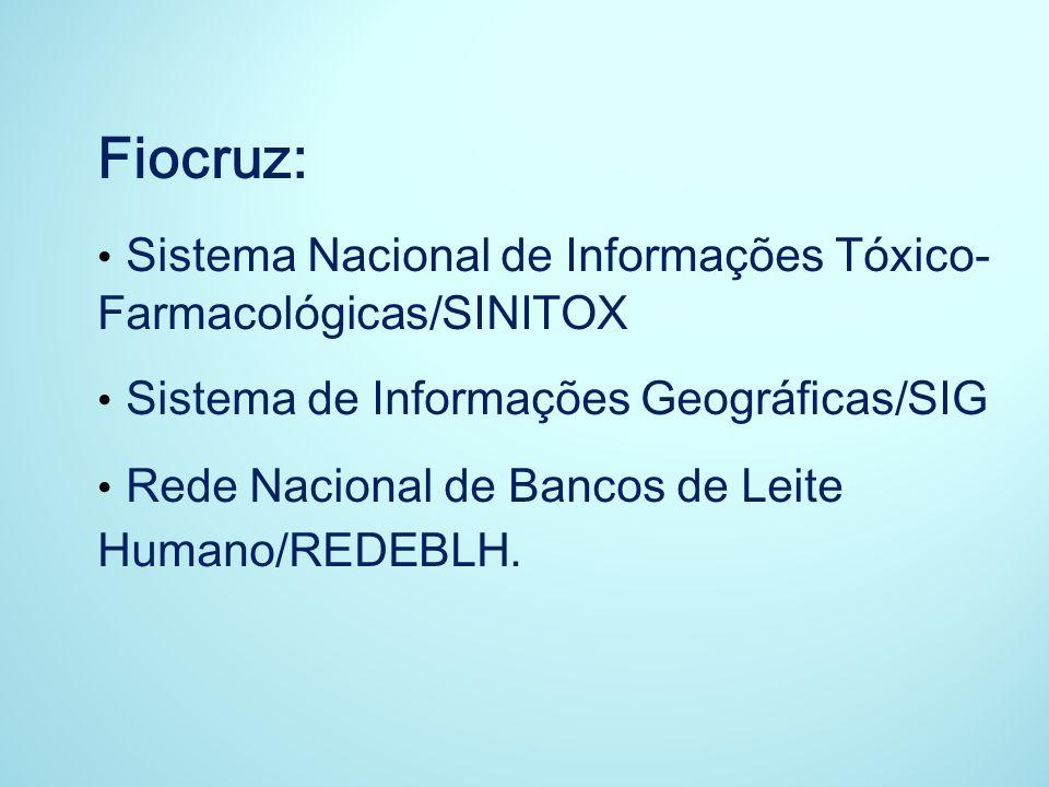Fiocruz: Sistema Nacional de Informações Tóxico-Farmacológicas/SINITOX
