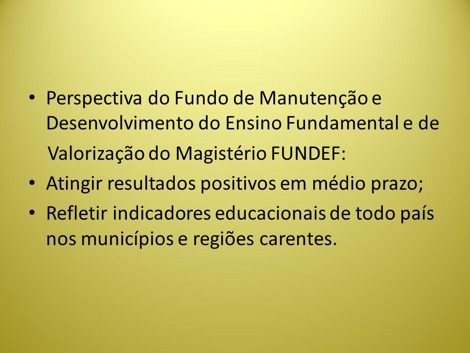 Perspectiva do Fundo de Manutenção e Desenvolvimento do Ensino Fundamental e de