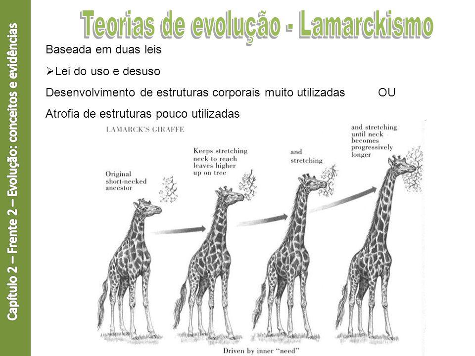 Teorias de evolução - Lamarckismo