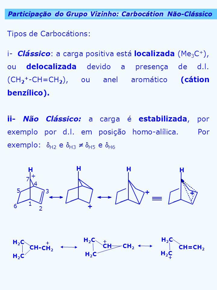 Tipos de Carbocátions: