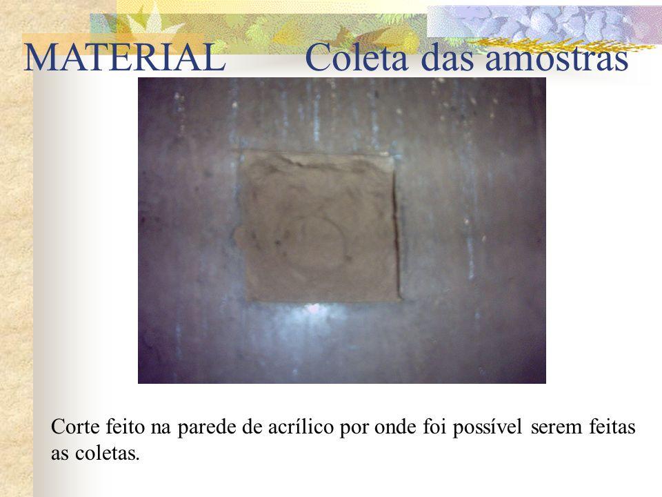 MATERIAL Coleta das amostras