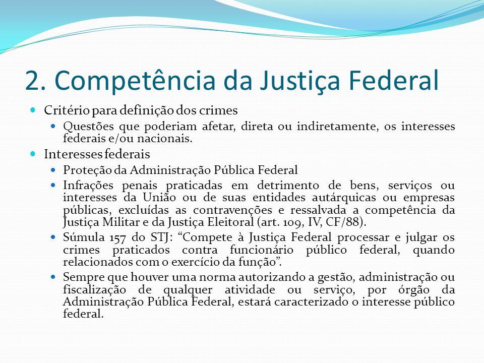 2. Competência da Justiça Federal