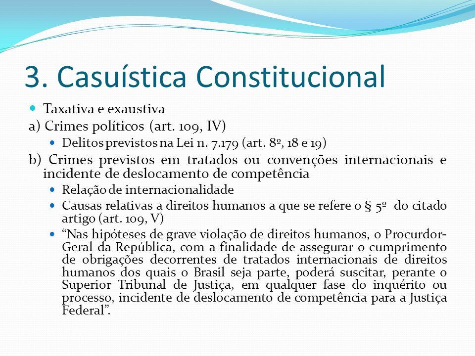 3. Casuística Constitucional