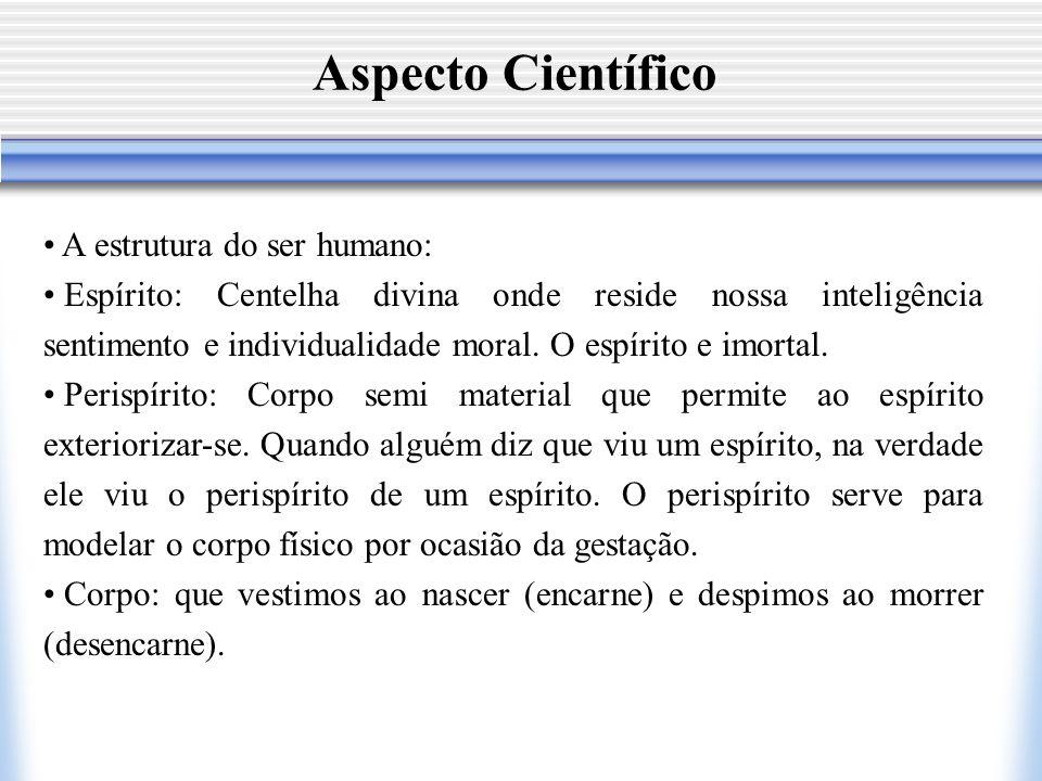 Aspecto Científico A estrutura do ser humano: