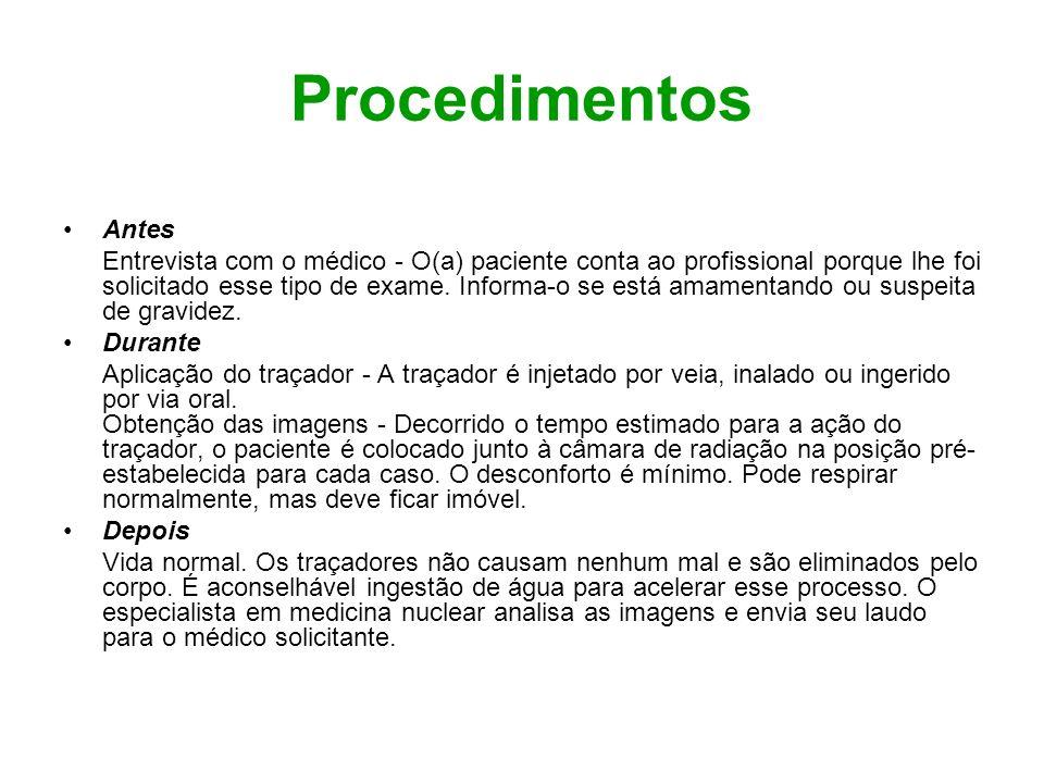 Procedimentos Antes.