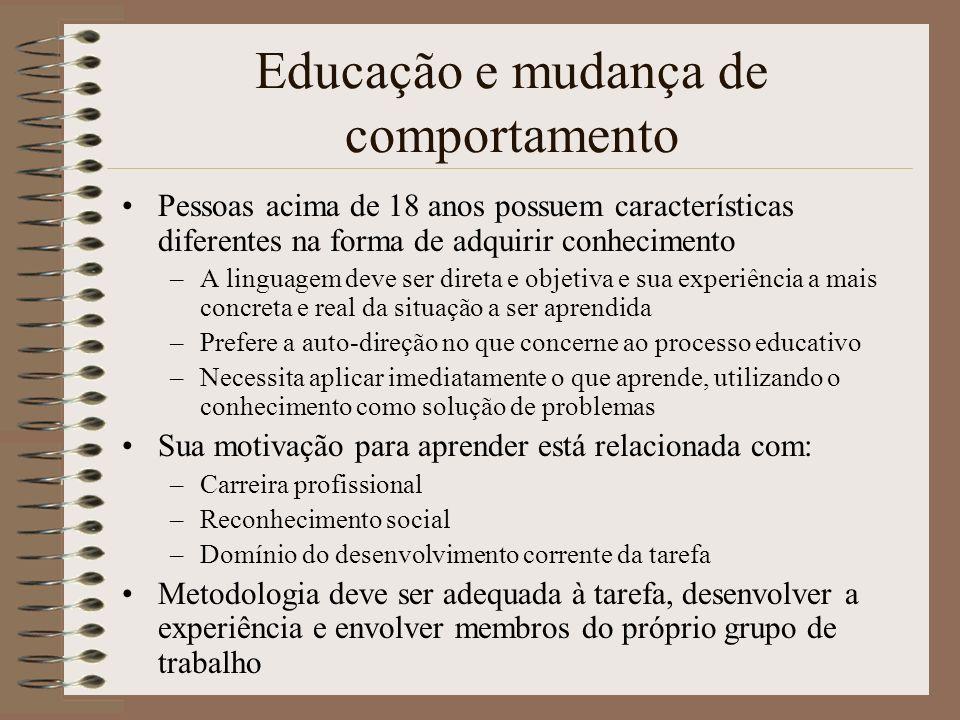 Educação e mudança de comportamento