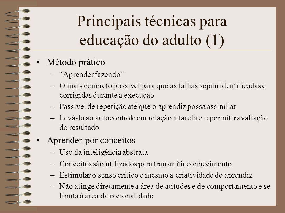Principais técnicas para educação do adulto (1)