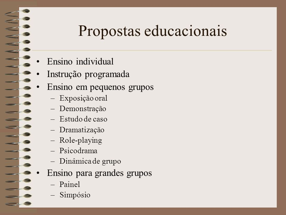 Propostas educacionais