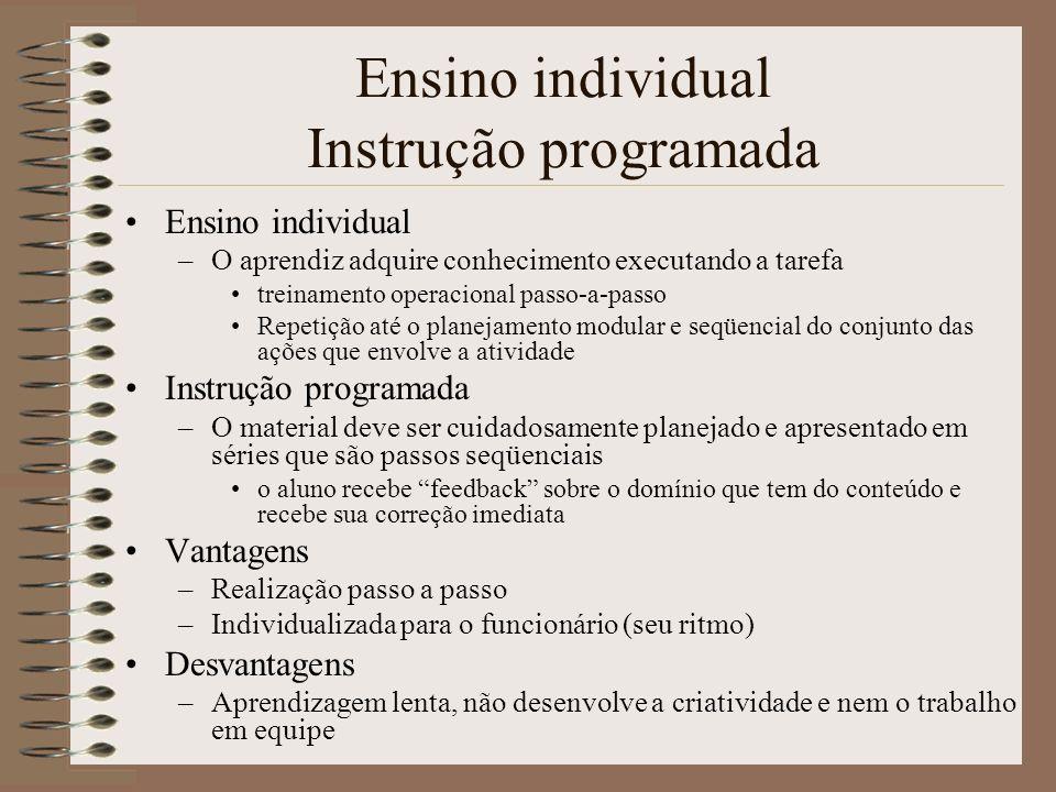 Ensino individual Instrução programada