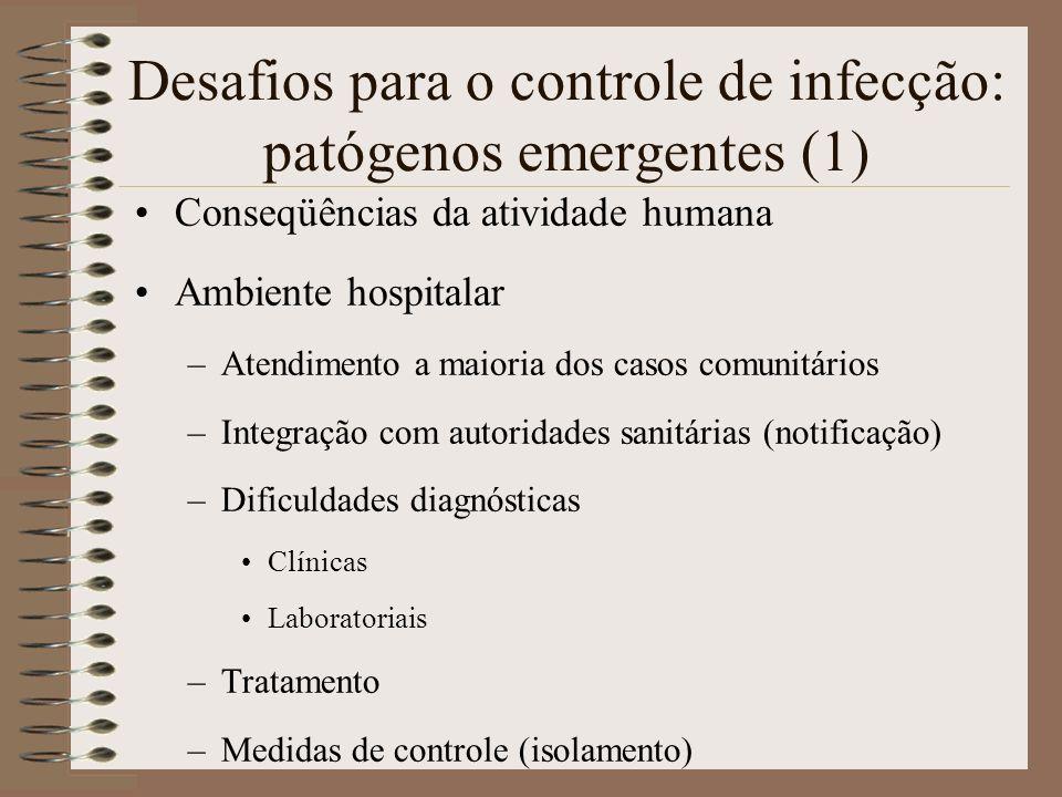 Desafios para o controle de infecção: patógenos emergentes (1)