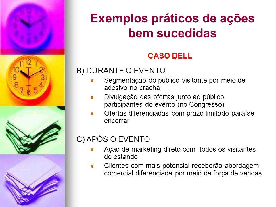Exemplos práticos de ações bem sucedidas