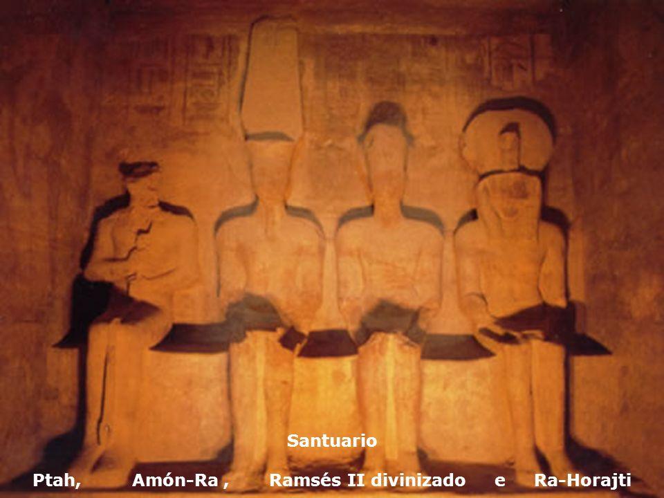 Santuario Ptah, Amón-Ra , Ramsés II divinizado e Ra-Horajti