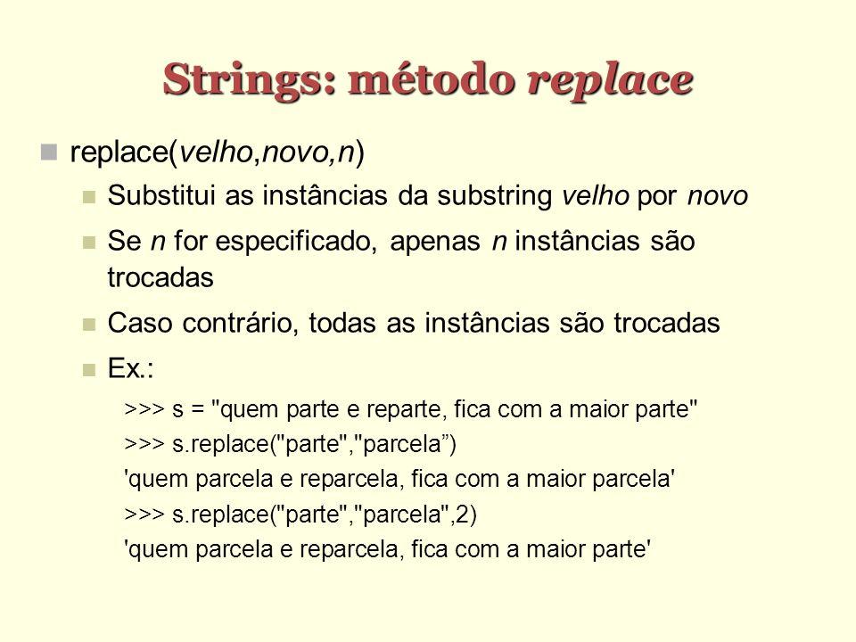 Strings: método replace