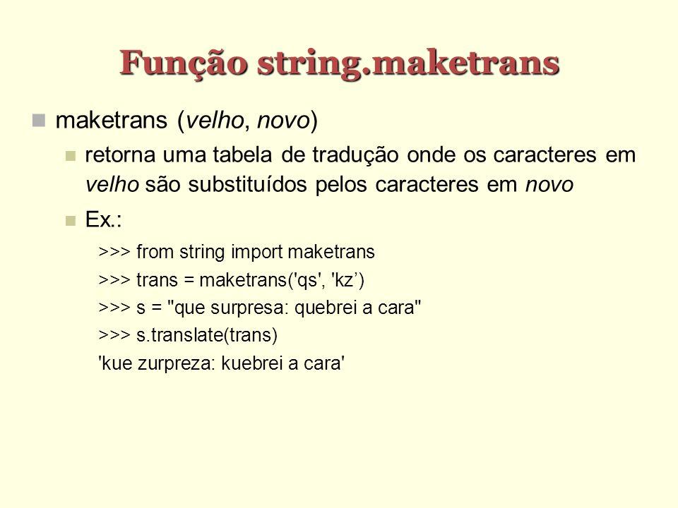 Função string.maketrans