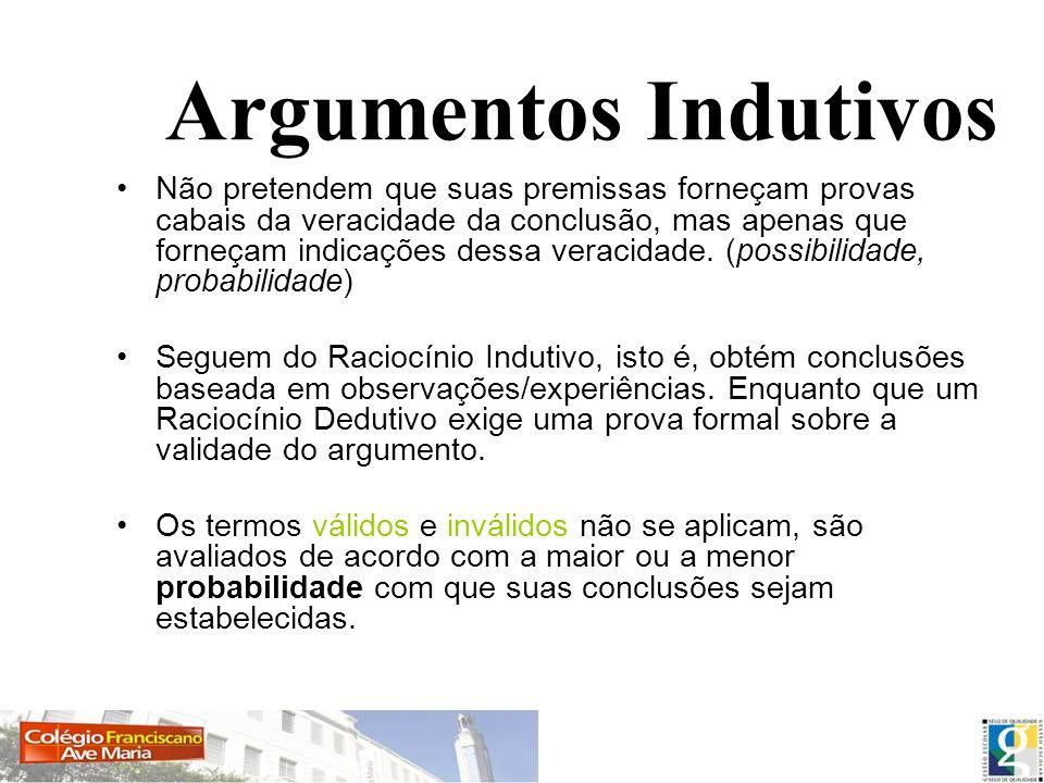 Argumentos Indutivos