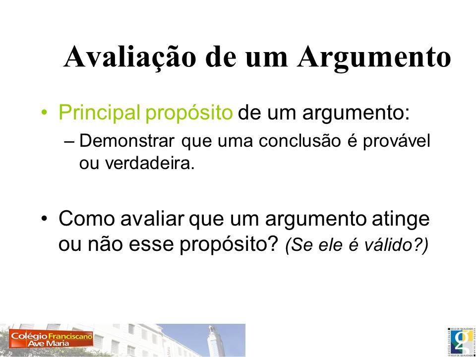 Avaliação de um Argumento