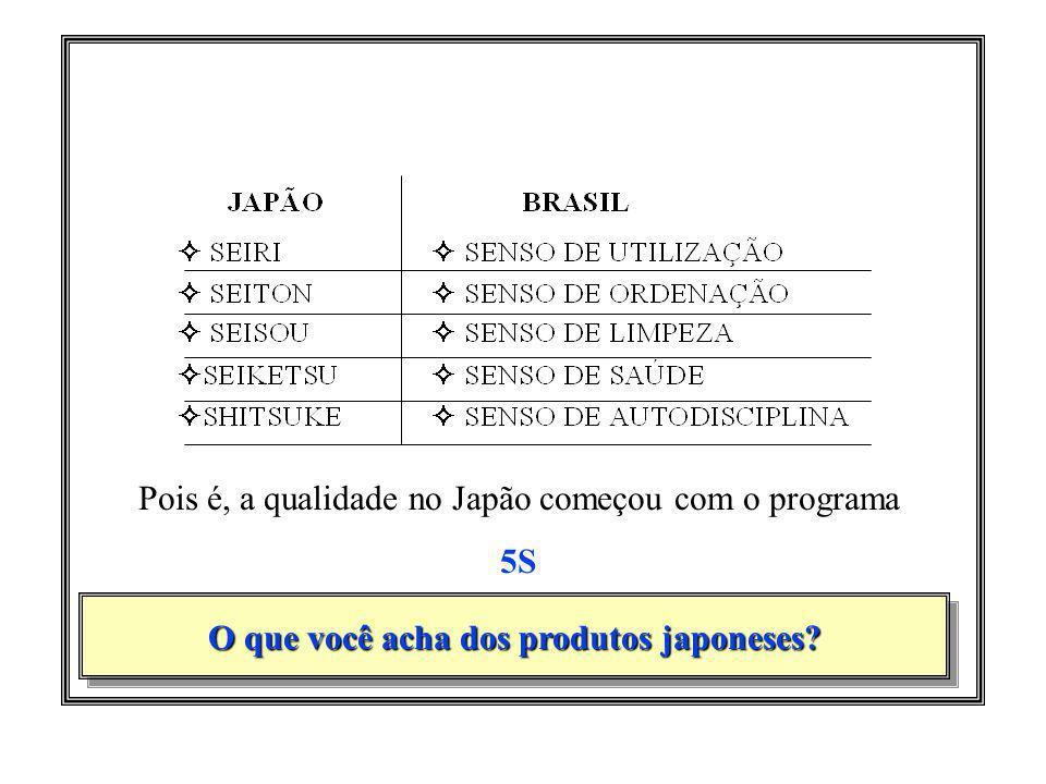 O que você acha dos produtos japoneses