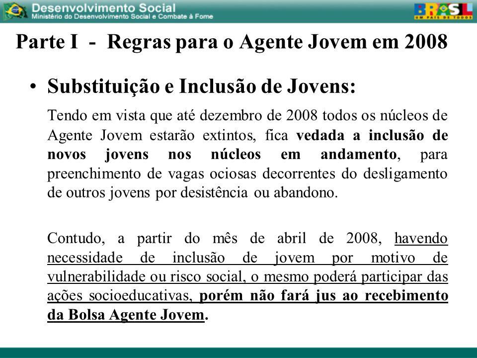 Parte I - Regras para o Agente Jovem em 2008