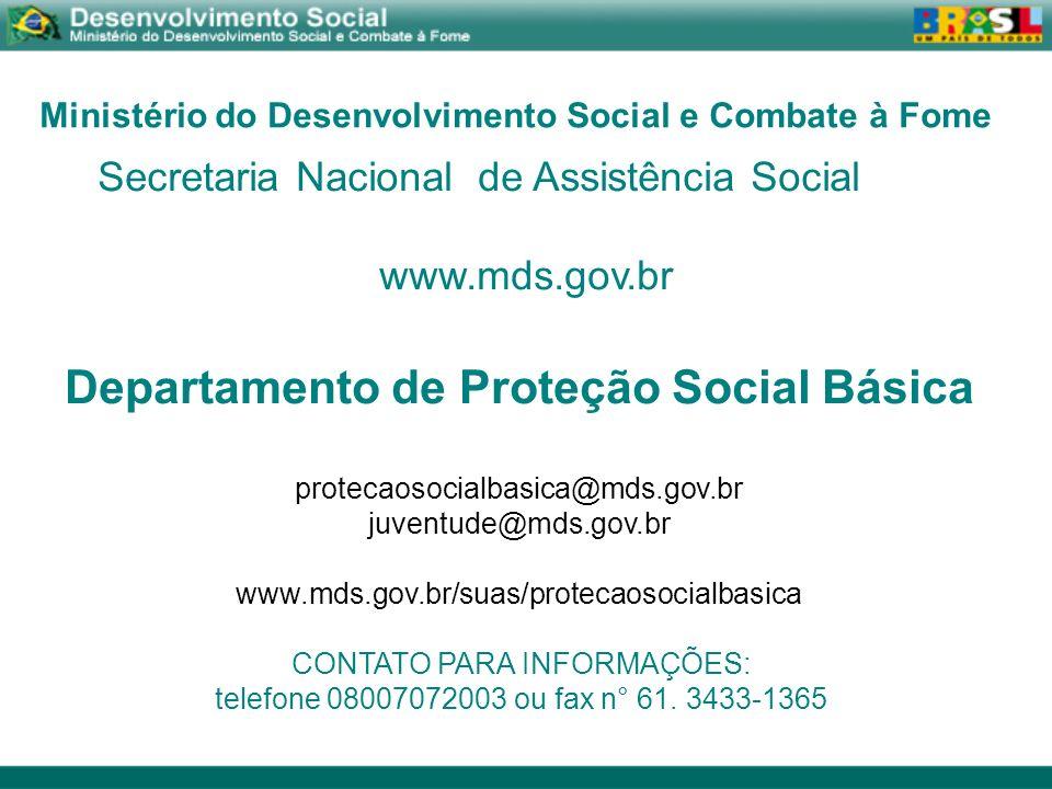 Departamento de Proteção Social Básica