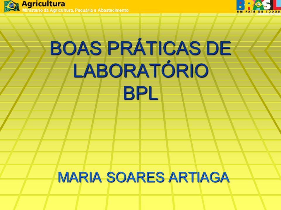 BOAS PRÁTICAS DE LABORATÓRIO BPL