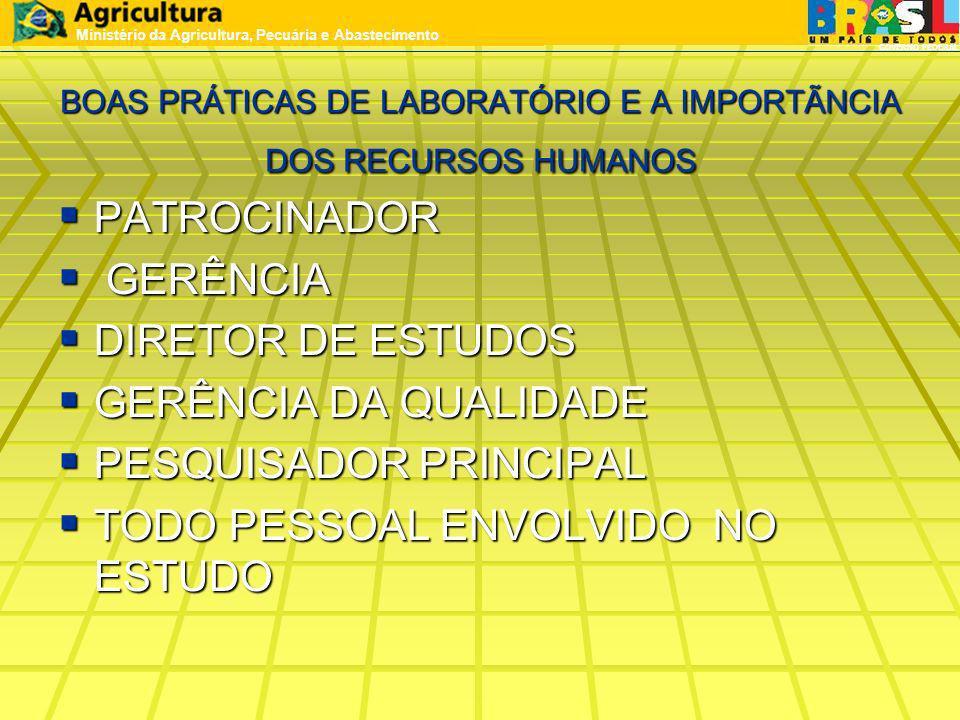 BOAS PRÁTICAS DE LABORATÓRIO E A IMPORTÃNCIA DOS RECURSOS HUMANOS