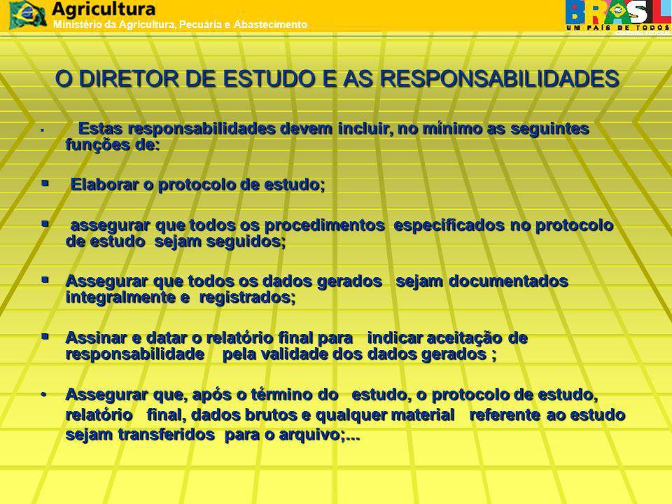 O DIRETOR DE ESTUDO E AS RESPONSABILIDADES