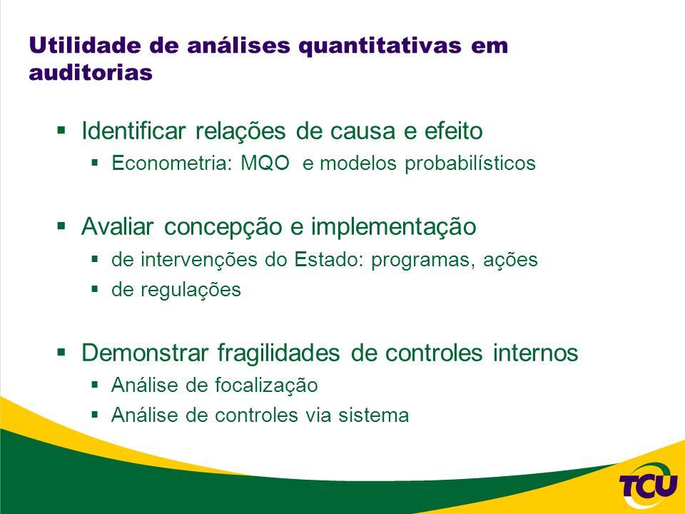 Utilidade de análises quantitativas em auditorias