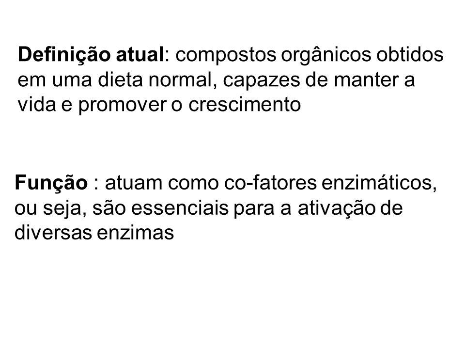 Definição atual: compostos orgânicos obtidos