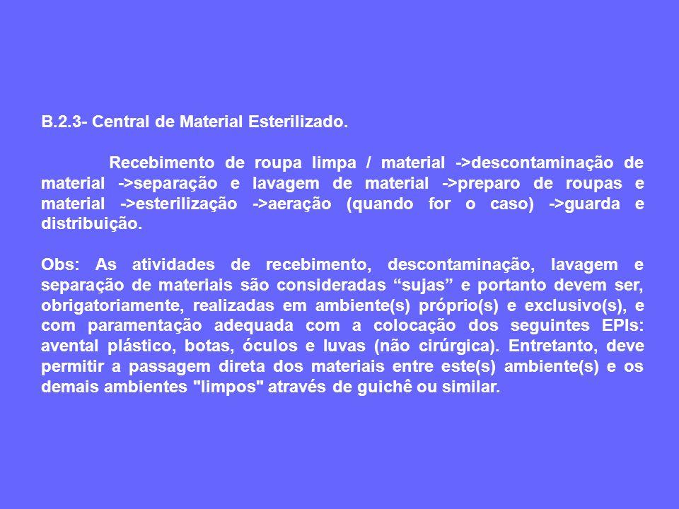 B.2.3- Central de Material Esterilizado.