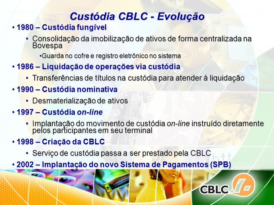 Custódia CBLC - Evolução