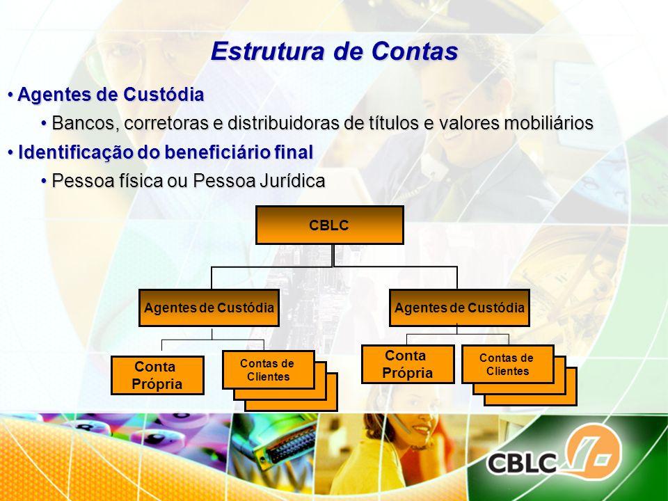 Estrutura de Contas Agentes de Custódia