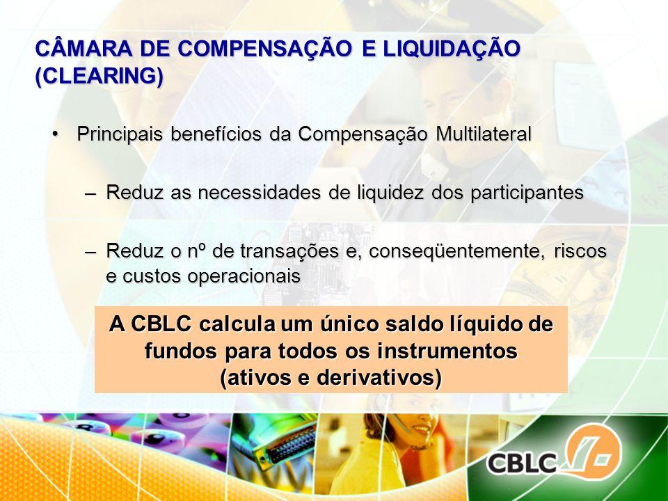 CÂMARA DE COMPENSAÇÃO E LIQUIDAÇÃO (CLEARING)